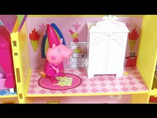 Свинка Пеппа обзор игрушки тайная башня принцессы Пеппы