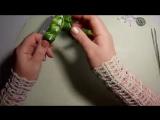 Канзаши, ободок колосок из репсовой ленты, МК, лепесток слойка