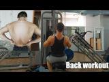 Natural Bodybuilding: Тренировка спины BACK WORKOUT 18 years old