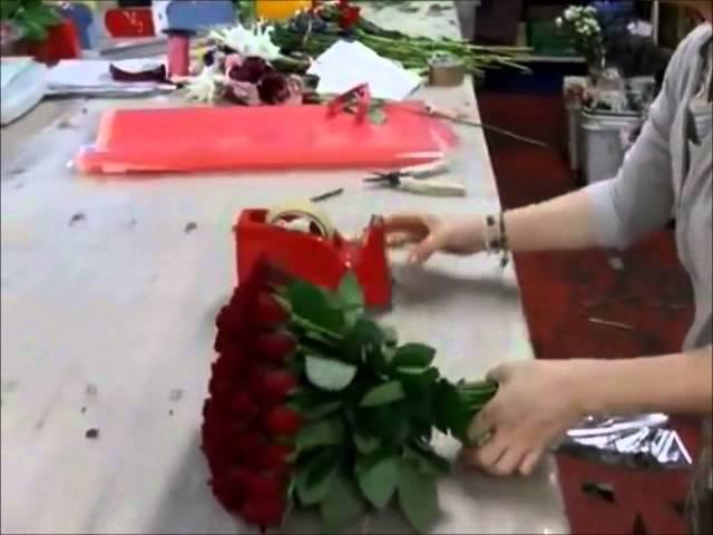 Флористика для начинающих как составить букет из роз своими руками (мастер класс).
