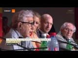 Woody Allen, Jesse Eisenberg, Kristen Stewart - Cafe Society - Press conference Festival cannes 2016