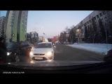 Яндекс-такси по встречке, Тюмень, Орджоникидзе, 02-12-16