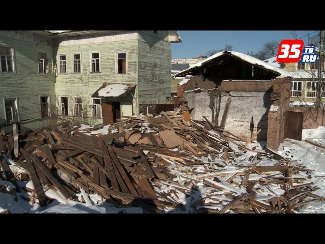 Собственник разрушенного каретника в Вологде признал свою ошибку