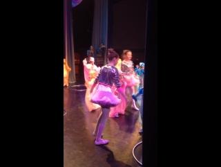Подглядела из-за кулис как танцует Настена !!!!!