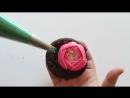 (ТОРТ-РЕЦЕПТ-VK) Как сделать Пион из крема, кремовые цветы мастер класс.