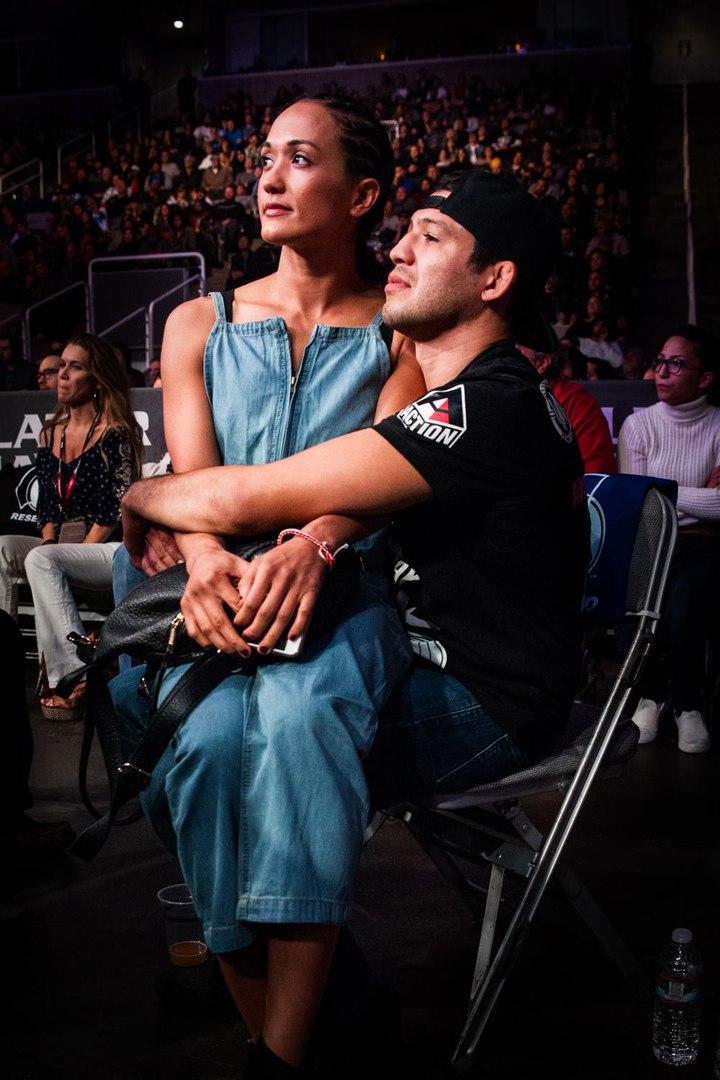 Кери и Гилберт Мелендес на вчерашнем турнире Bellator 165