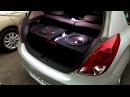Friends car audio setup - 2 DD 512 Subwoofer's 400W RMS each powered by DD M2C Monoblock amplifier