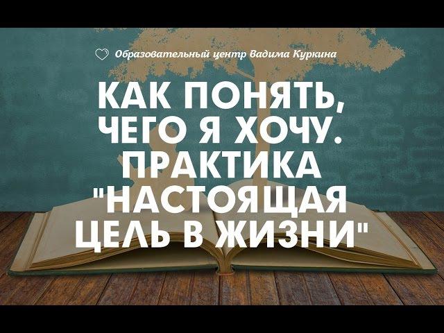 Как понять, чего я хочу. Практика Настоящая цель в жизни. Занимательная психология. Вадим Куркин