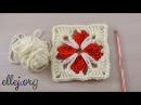 ♥ Квадратный двухцветный мотив Кафедральный МК по вязанию крючком Crochet square motif Tutorial