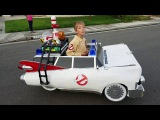 Jeremys Ghostbusters Ecto-1 Wheelchair Costume