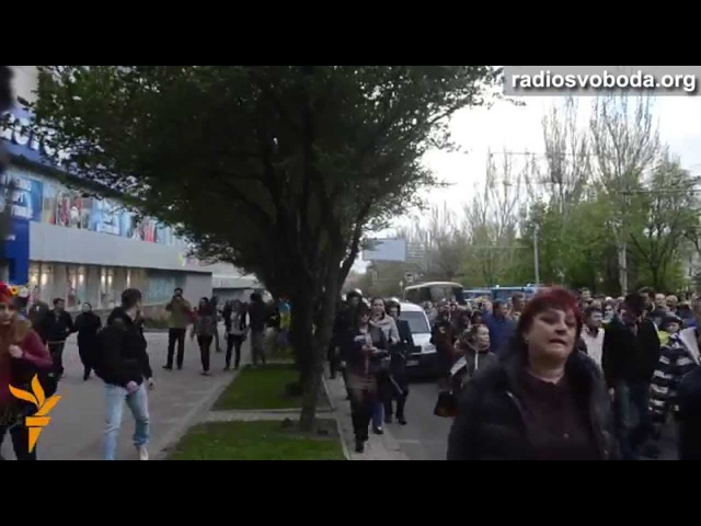 28 апреля 2014. Донецк. Напад на проукраїнський мітинг у Донецьку