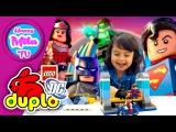 HappyMilaTV #337   Лего Дупло - Приключения Бэтмена, СуперМена и Чудо-Женщины