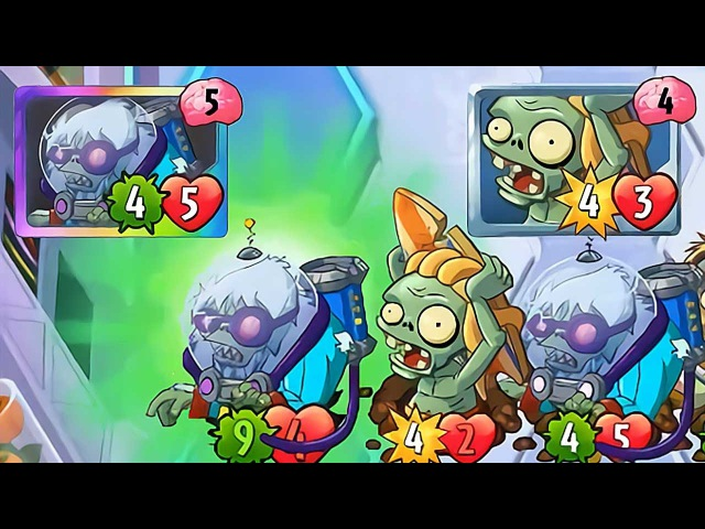 Plants vs Zombies Heroes - Cryo Yeti Gameplay with Surfer Zombie