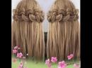 Легкая коса с помощью гофре