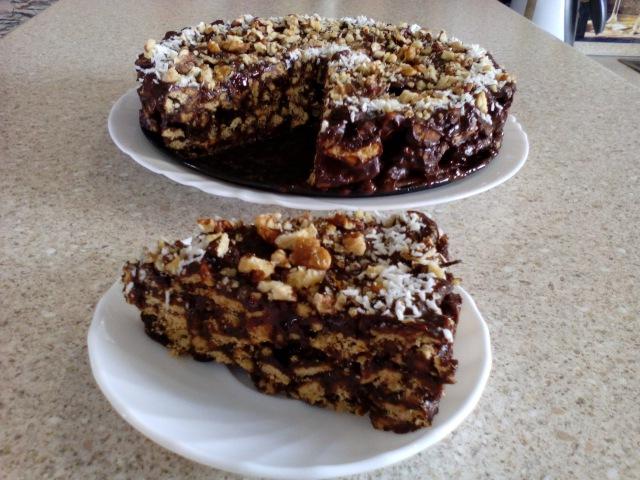 Шоколадный торт из печенья без выпечки. Вкусный торт без выпечки