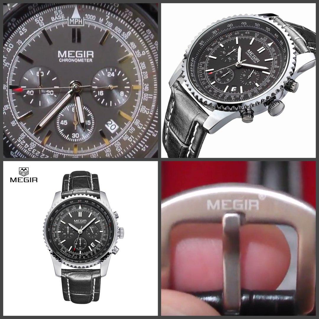 Мужские кварцевые часы Мегир хронометр, цена 2790 руб