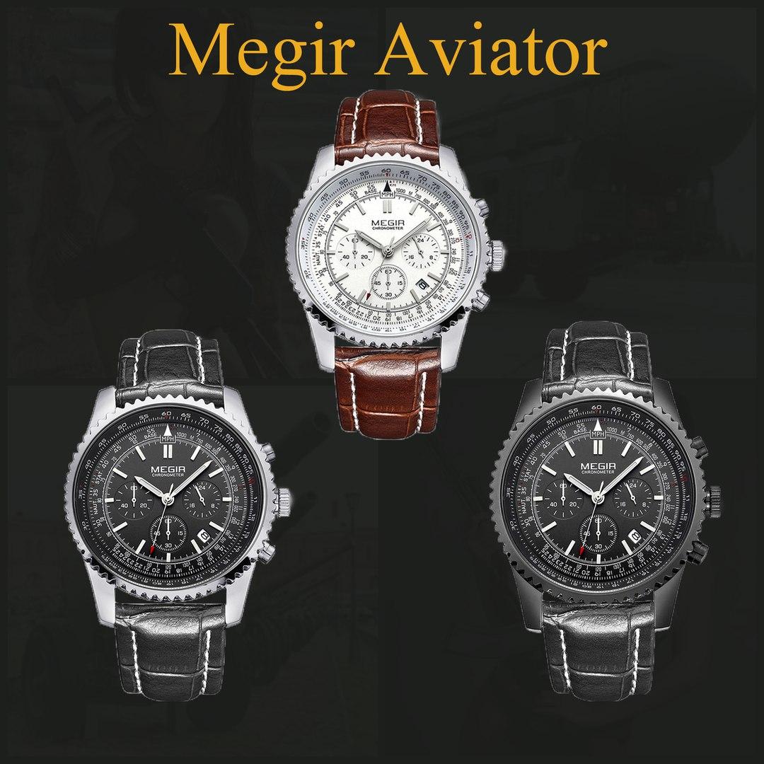 Megir Aviator Chronometer, модели, цена 2790 руб