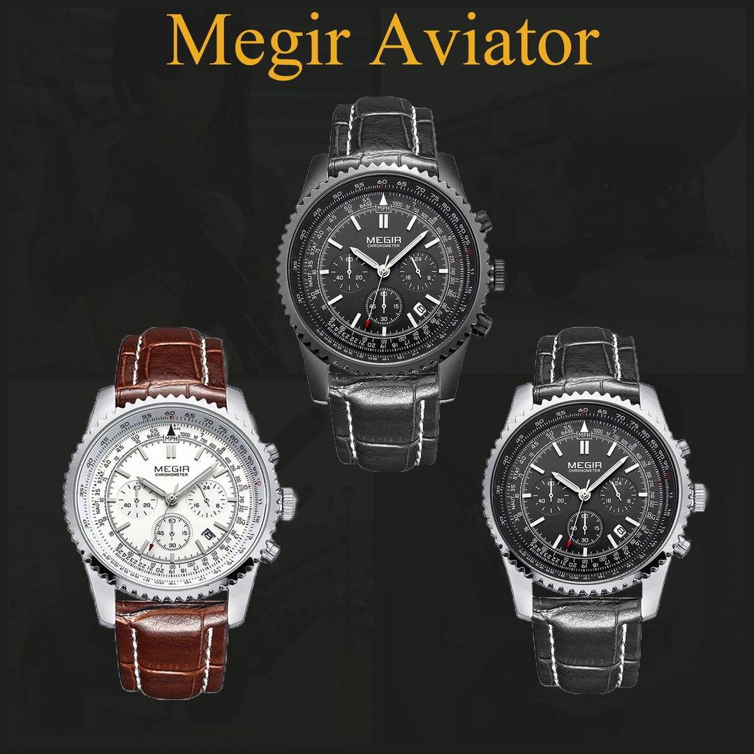 модели Часов Megir Aviator Chronometer, купить за 2790 руб