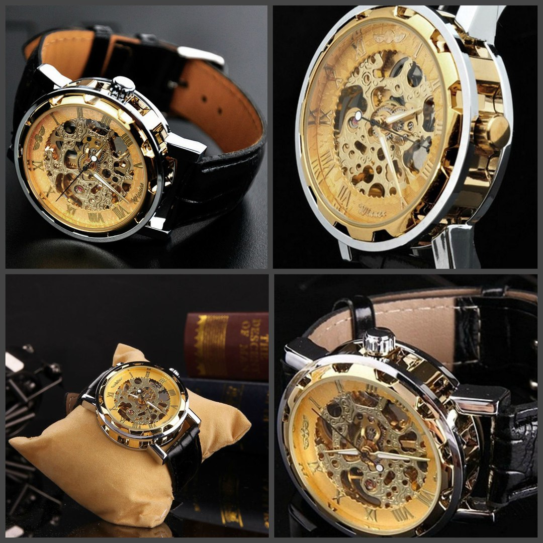 Часы Winner Skeleton Gold купить в Москве 2890 руб, курьер, самовывоз