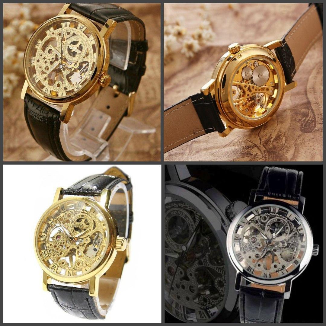 Часы  Skeleton Gold - Winner купить в интернете недорого за 2890 руб