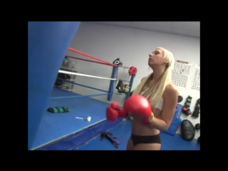 Hot Blonde Chick Boxing