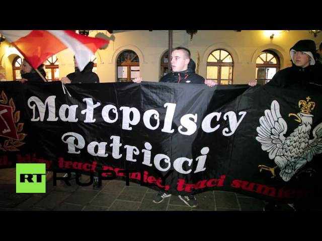 Poland: Anti-US protest in Krakow blames America for refugee crisis
