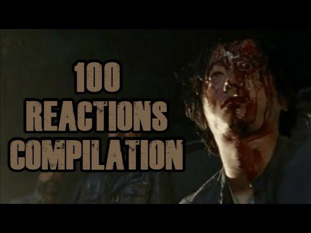 Glenn | Walking Dead S07E01 - 100 Reactions Compilation