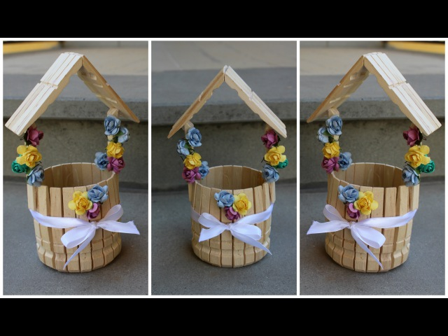 Pozzo dei Desideri con le mollette | The wishing well with clothespins