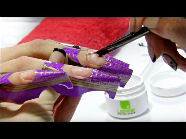 UV Gel Nail Extensions Tutorial Step by Step using Nail Forms Lesson Part 1
