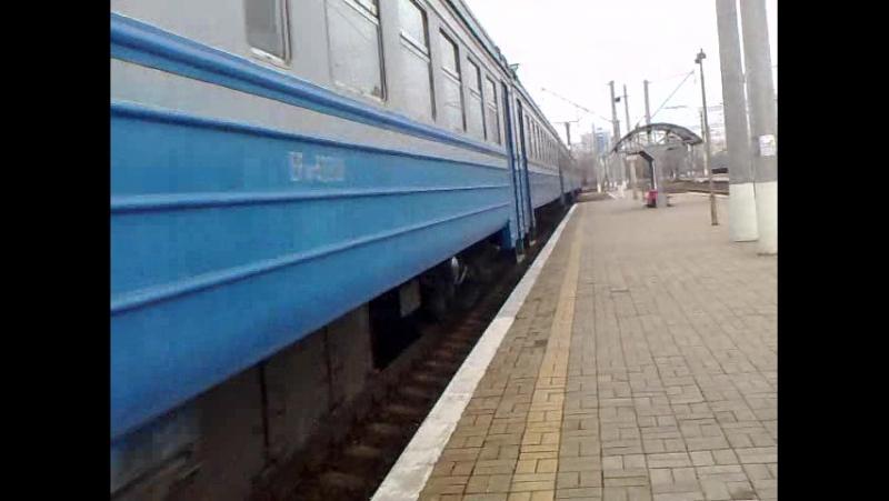 прибытие електропоезда на станцию Киев-Московский с сообщением Киев-Нежин №6819