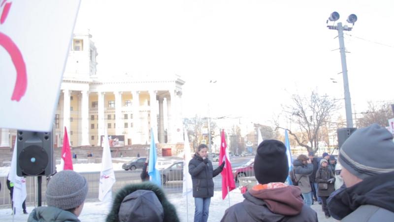 Митинг за троллейбус. Выступление представителя