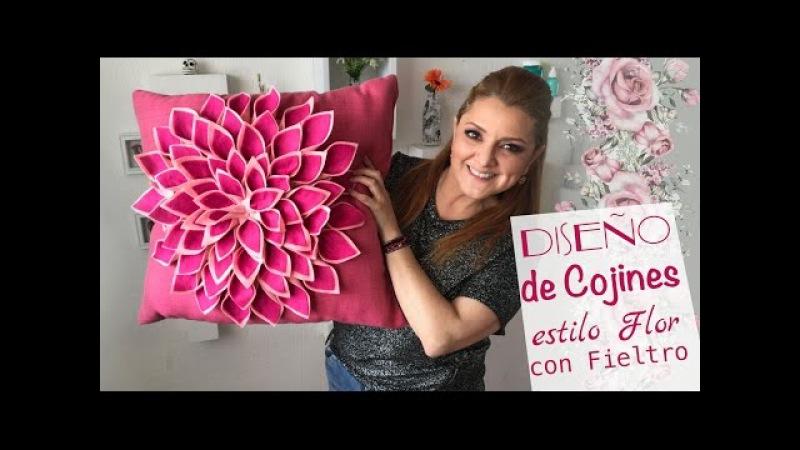 Cómo hacer Cojines de Flores :: decora con poco dinero :: Pillow diy: Pillow Flower