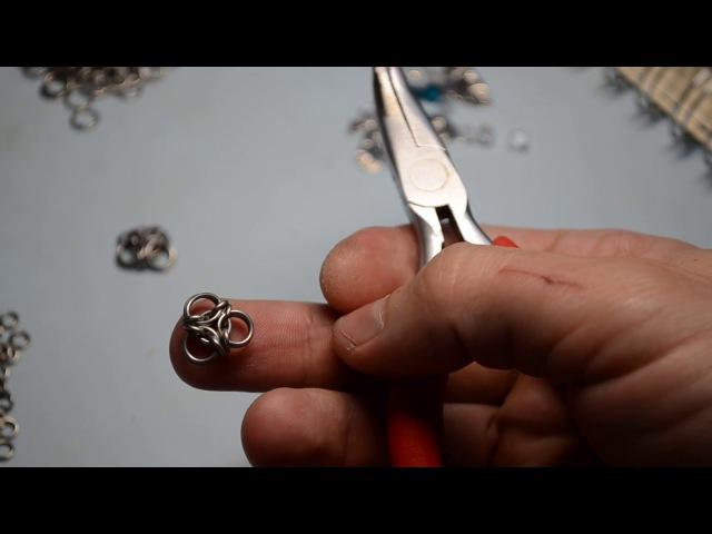 Chainmaille Aura unit tutorial МК кольчужное плетение элемент Аура