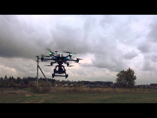 Rottor Dragon Flight - 12 Rotor Multicopter for RED CAMERAS