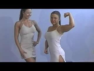 Charlene Rink vs Veronica Mills Female wrestling of Fitness Girls