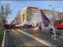 Crvena zvezda vs Spartak Moscow including corteo to Marakana Delije and Fratria Srbija i Rusija