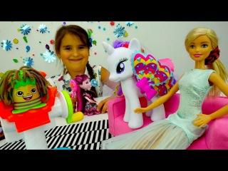 Игры для детей: салон красоты посетили Куклы Барби, Дракулаура, Май Литл Пони. Плей До