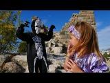 Видео для детей: активный отдых с детьми, игры и пикник с Принцессой Элис