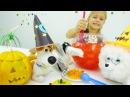 Игры для детей. Хэллоуин с Гиджет и Максом игрушки из мультфильма Тайная жизнь домашних животных!