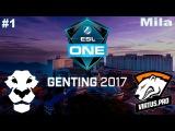 Ad Finem vs Virtus.Pro #1 (Mila) (bo3) | ESL One Genting 2017 Dota 2