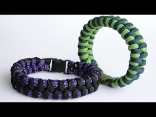 "How to Make a Simple ""two strand core"" Zawbar Paracord Survival  Bracelet"