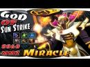 Miracle Invoker - God of Sun Strike 8860 MMR Ranked Liquid Gameplay - Dota 2