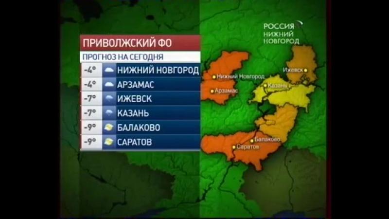 Прогноз погоды (ГТРК Нижний Новгород, 29.01.2009)