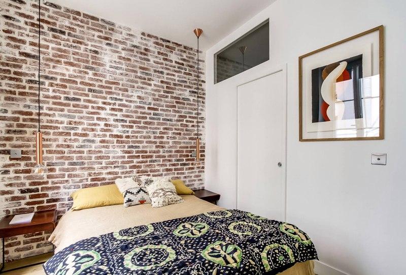 Интерьер квартиры 36 м в Париже.