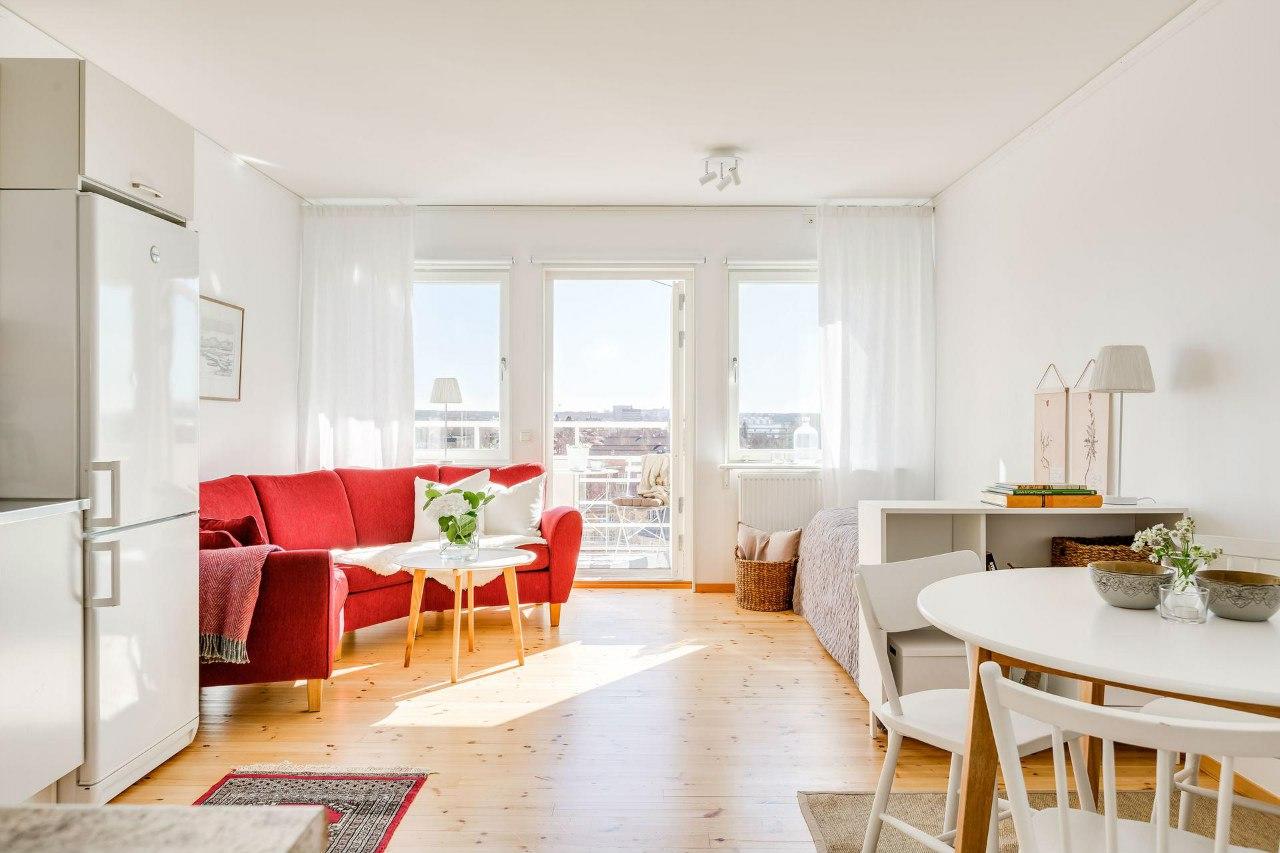 Интерьер квартиры-студии 32 м.