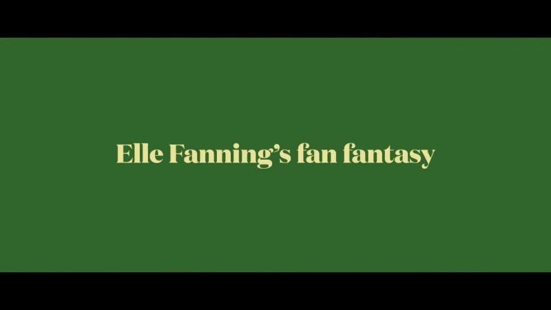 보그가 제작한 단편, 엘 패닝의 부채 판타지. Fanning이라는 성이 갖는 부채질의 의미를 재미있게 활용했다.
