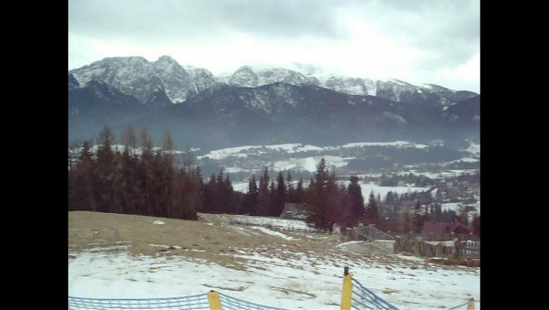 Панорама Высоких Татр с Поляны Шимошкова. Panorama Tatr Wysokich z Polana Szymoszkowa.