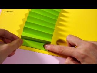 Новогодняя 3D-открытка елочка DIY