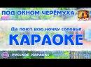 Караоке Под окном черёмуха Русская народная песня