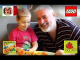 Первый подарок на НОВЫЙ ГОД!!! Собираем Экскаватор-погрузчик LEGO Duplo. Обзор деталей